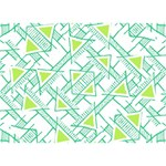 Ethnic Geo Pattern Get Well 3D Greeting Card (7x5) Back
