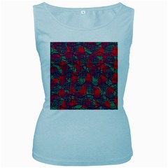 Decorative abstract art Women s Baby Blue Tank Top