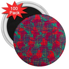 Decorative abstract art 3  Magnets (100 pack)
