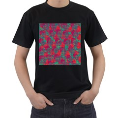 Decorative abstract art Men s T-Shirt (Black) (Two Sided)