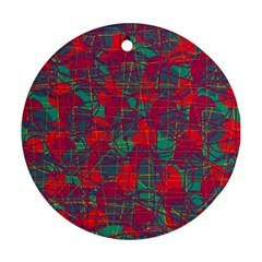 Decorative abstract art Round Ornament (Two Sides)