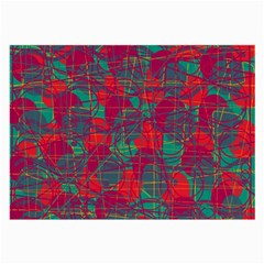 Decorative abstract art Large Glasses Cloth