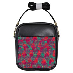 Decorative abstract art Girls Sling Bags