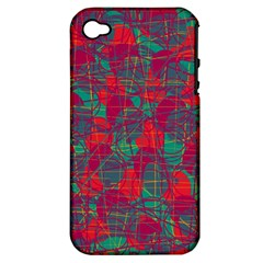 Decorative abstract art Apple iPhone 4/4S Hardshell Case (PC+Silicone)