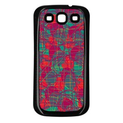 Decorative abstract art Samsung Galaxy S3 Back Case (Black)
