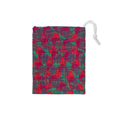 Decorative abstract art Drawstring Pouches (Small)