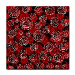 Red abstract decor Tile Coasters