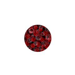 Red abstract decor 1  Mini Magnets