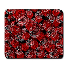 Red abstract decor Large Mousepads
