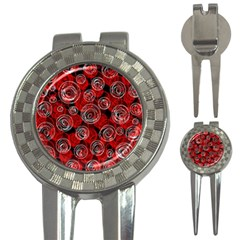Red abstract decor 3-in-1 Golf Divots