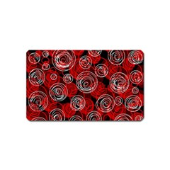 Red abstract decor Magnet (Name Card)