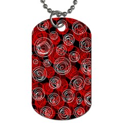 Red abstract decor Dog Tag (One Side)