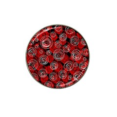 Red abstract decor Hat Clip Ball Marker (4 pack)