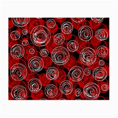 Red abstract decor Small Glasses Cloth