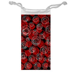 Red abstract decor Jewelry Bags