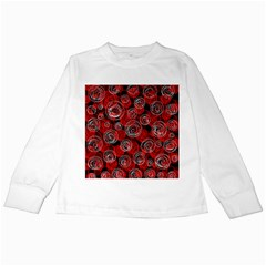 Red abstract decor Kids Long Sleeve T-Shirts