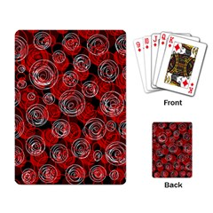 Red abstract decor Playing Card