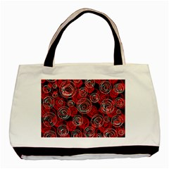 Red abstract decor Basic Tote Bag