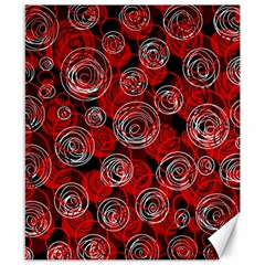 Red abstract decor Canvas 8  x 10