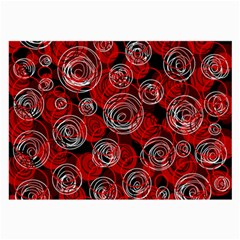 Red abstract decor Large Glasses Cloth (2-Side)