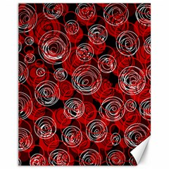 Red abstract decor Canvas 11  x 14