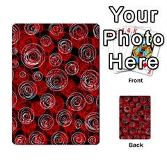 Red abstract decor Multi-purpose Cards (Rectangle)