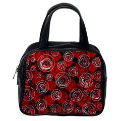 Red abstract decor Classic Handbags (One Side)