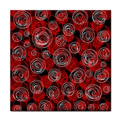 Red abstract decor Face Towel