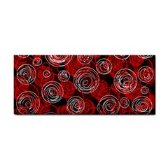 Red abstract decor Hand Towel