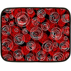 Red abstract decor Double Sided Fleece Blanket (Mini)