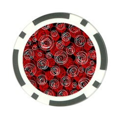 Red abstract decor Poker Chip Card Guards (10 pack)
