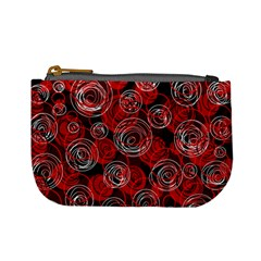 Red abstract decor Mini Coin Purses