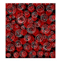 Red abstract decor Shower Curtain 66  x 72  (Large)