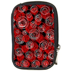 Red Abstract Decor Compact Camera Cases