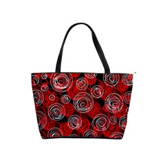 Red abstract decor Shoulder Handbags