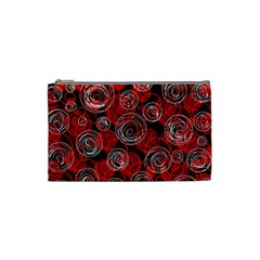 Red abstract decor Cosmetic Bag (Small)