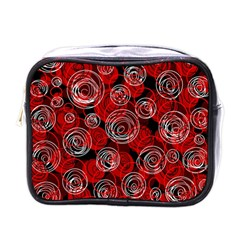 Red abstract decor Mini Toiletries Bags