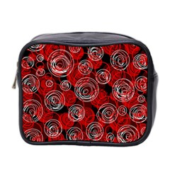 Red abstract decor Mini Toiletries Bag 2-Side