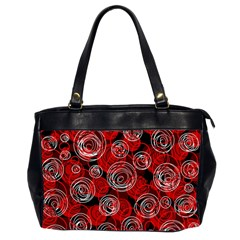 Red abstract decor Office Handbags (2 Sides)