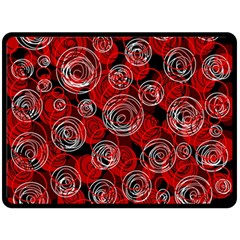 Red abstract decor Fleece Blanket (Large)