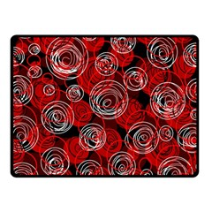 Red abstract decor Fleece Blanket (Small)