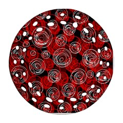 Red abstract decor Ornament (Round Filigree)