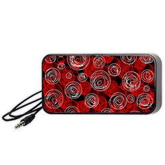 Red abstract decor Portable Speaker (Black)