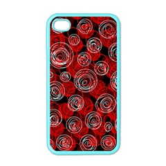 Red abstract decor Apple iPhone 4 Case (Color)