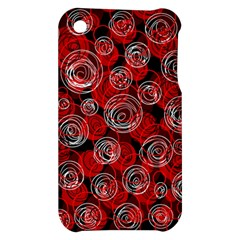 Red abstract decor Apple iPhone 3G/3GS Hardshell Case