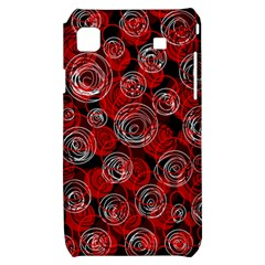 Red abstract decor Samsung Galaxy S i9000 Hardshell Case
