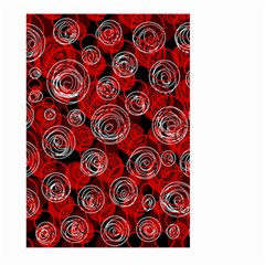 Red abstract decor Large Garden Flag (Two Sides)