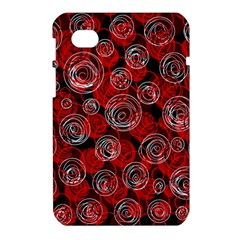Red abstract decor Samsung Galaxy Tab 7  P1000 Hardshell Case