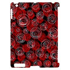 Red abstract decor Apple iPad 2 Hardshell Case (Compatible with Smart Cover)