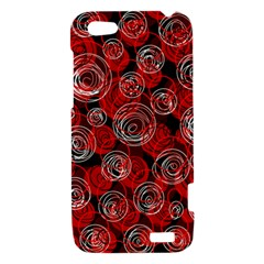 Red abstract decor HTC One V Hardshell Case